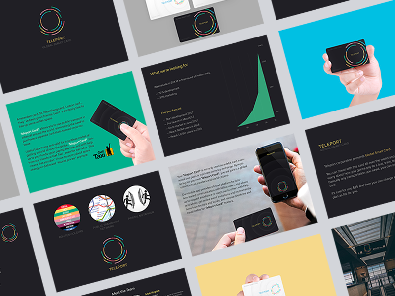 Presentation Design Trends for 2018 - bright and bold colors