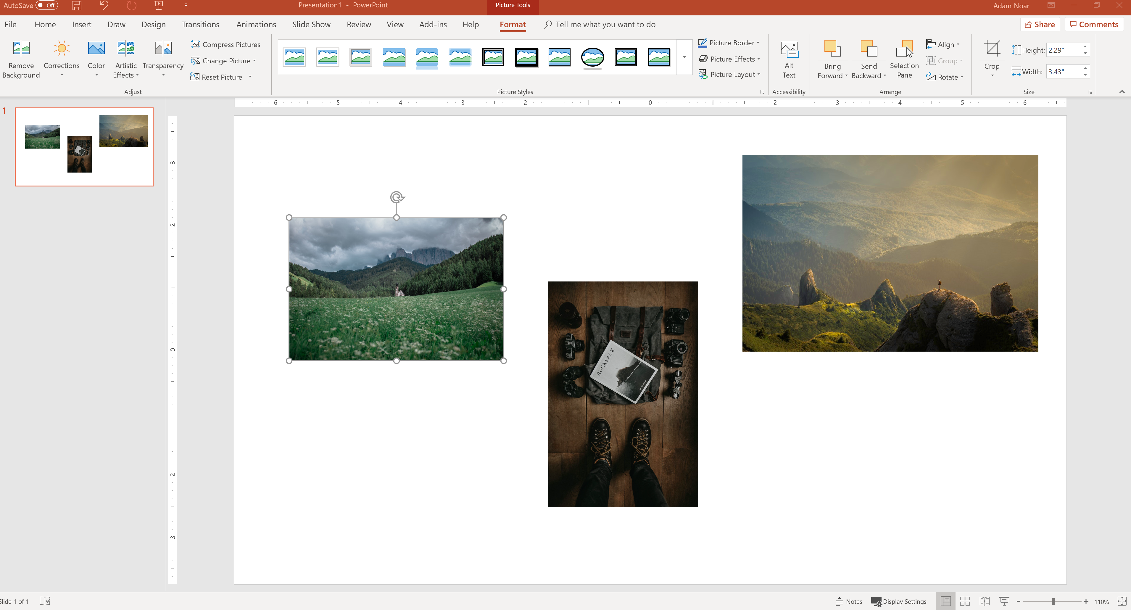how to quickly resize images in PowerPoint