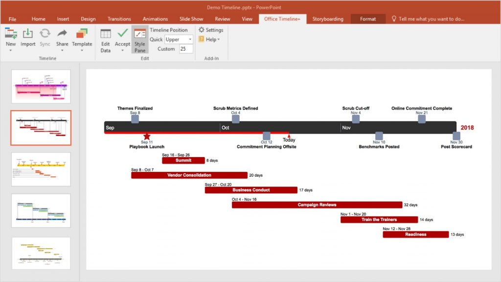 Office Timeline for PowerPoint: PowerPoint best plugins