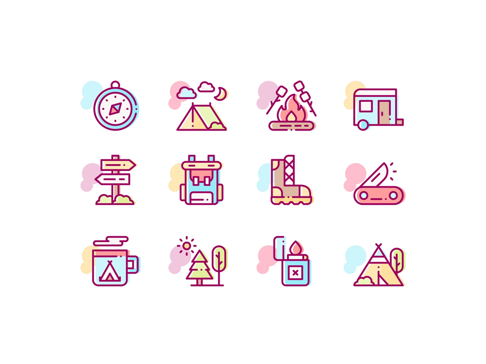 icons styles - line icons - powerpoint icons