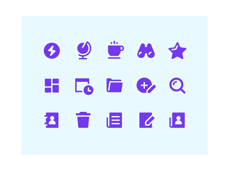 icons styles - glyph icons - powerpoint icons