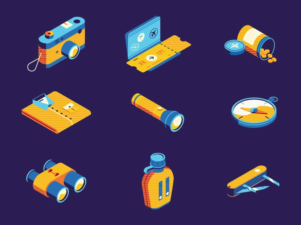 icons styles - dimensional icons - powerpoint icons