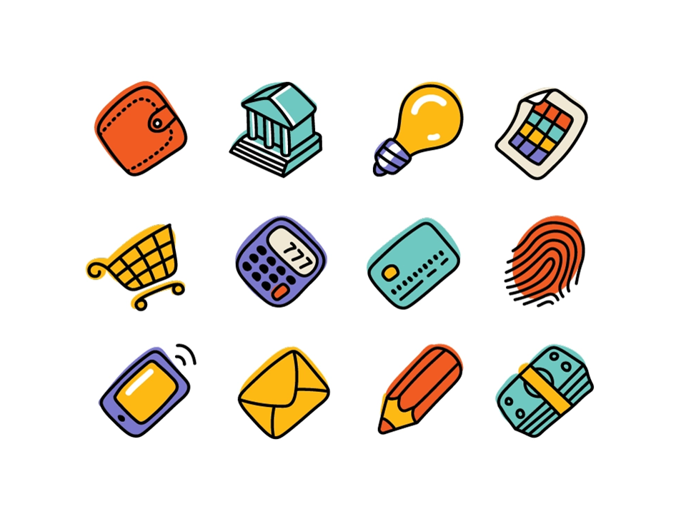 icons styles - hand drawn icons - powerpoint icons